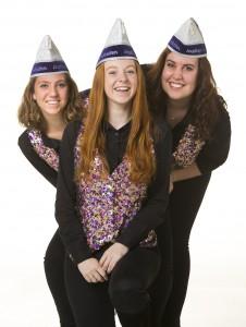 Van links naar rechts: Daphne, Nadih en Iris